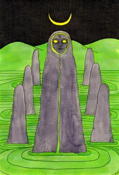 The High Priestess from Tarot of the Crones