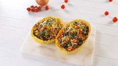 Burrito Spaghetti Squash Boats = Perfect Low-Carb DinnerDelish