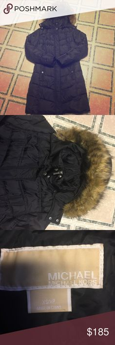Michael Kors Women's Down winter jacket long Michael kors black size XS WINTER DOWN JACKET, long length.  Excellent pre-owned condition. MICHAEL Michael Kors Jackets & Coats Puffers