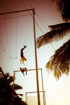 Flying Tarpeze at Kaiceitos Circus School in Cabarete, North Shore Dominican Republic