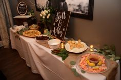 Food Table . Winter Soiree . Engagement Party . Finnie Nash . Nashville, TN