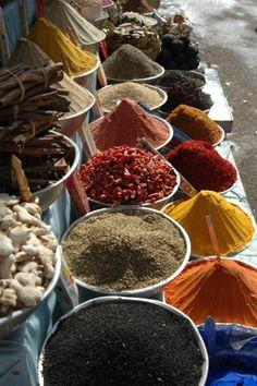 Spice market at Kochi.