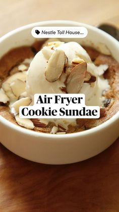 Air Fryer Oven Recipes, Air Frier Recipes, Air Fryer Dinner Recipes, Fun Desserts, Delicious Desserts, Dessert Recipes, Yummy Food, Frozen Banana Recipes, Food And Drink
