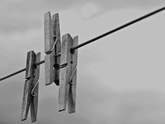black and white photography of clothes pegs | Clothes Peg