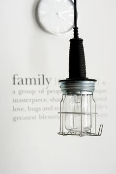 "♥ - love the ""family"" definition on the wall!"