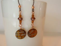 Amber Golden Brown Leaves Of  Change by Pat Tinnin on Etsy