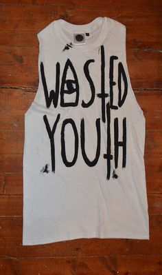 Hipster Wasted Youth Sleeveless Tshirt Indie by IIMVClOTHING, £7.99
