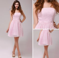 Cheap A-line Knee-length Lace Satin Sweet 16 Dresses  $159.29