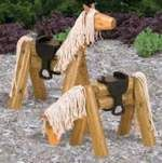 Landscape Timber Horse, cheap to feed!