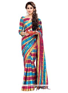 Cute Cotton   Multi Colour Casual Saree