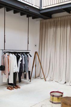Antwerp city break shopping at concept store St Vincents. Long curtain love.
