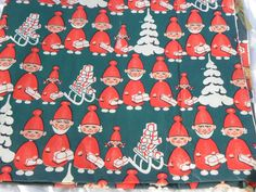Christmas Wrapping Paper 60s. $6.00, via Etsy.