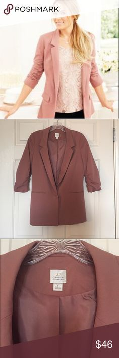 Blush blazer worn once LC Lauren Conrad blush colored blazer. Wore it one time and has been dry cleaned, basically brand new. Love this blazer but need room in my closet. Offers welcome. LC Lauren Conrad Jackets & Coats Blazers