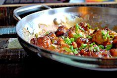 General Tso's Cauliflower--NOT DEEP FRIED
