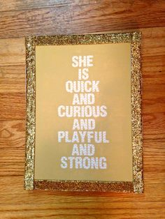 Kate Spade Quote Canvas via Etsy.  Love this for el' s room