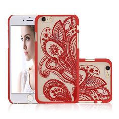 iPhone 6 Case, NOVT Flower Printed Slim Fit Hard Plastic Clear iPhone 6 Case Cover Shock Absorbing Anti-Scratch Floral Transparent Back PC Cell Phone Case for Apple iPhone 6/6S 4.7 Inch (8) NOVT http://www.amazon.com/dp/B01ARRCW6U/ref=cm_sw_r_pi_dp_.t3Nwb151AWPY