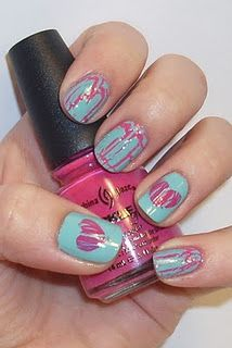 Valentines Day nails - there's more, look at the pics.