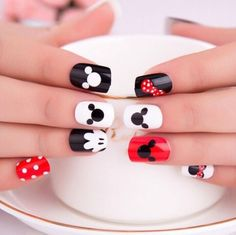Mickey Mouse Nail Art Mickey Mouse Nail Art This image has get. Nail Art Disney, Mickey Mouse Nail Art, Disney Nail Designs, Mickey Nails, Minnie Mouse Nails, Cute Nail Designs, Disney Mickey, Disney Toe Nails, Walt Disney
