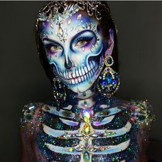 Diamond Skull  By @ellie35x   FOLLOW US:>>> @100daysofmakeupchallenge for more  USE #100daysofmakeup #100daysofmakeupchallenge #AtarahMayhew TO GET FEATURED  GO FOLLOW @AtarahMayhew    #31daysofhalloween#haloween#makeupmurah#horrornerd#kryolan#31daysofhorror#hallowen#halloweencostume#halloweencostumes#halloweeniscoming#horrorlover#halloween2017#halloweennight#glitter#skulltattoo#bones#scared#horrorfan#bone#scary#horror#scarymakeup#skulls#skull#horrorart#skeleton
