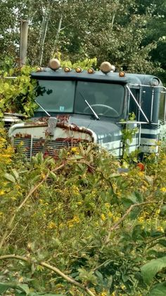 🛑 RETIRED TRUCKS 🛑 Classic Tractor, Classic Trucks, Kenworth Trucks, Peterbilt, Vintage Trucks, Old Trucks, Rust In Peace, Show Trucks, Abandoned Cars