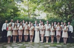 A better photo composition for a large wedding party.