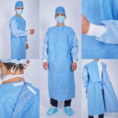 Morntrip Disposable (Reinforced) Surgical Gown Scrub Jackets, Surgical Caps, Sewing Tutorials, Scrubs, Gowns, Shirt Dress, Coat, Fabric, How To Wear