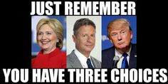 Gary Johnson, for the win! America, lets vote for the one sane person running, lets stop the circus!