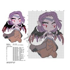 League Of Legends Morgana free cross stitch pattern