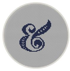 Ampersand Cross stitch pattern And cross by MagicCrossStitch