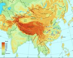 Topography of China