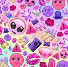 purple pink emoji edit