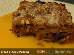 1940's Experiment Bread & Apple Pudding