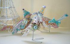 Stuffed paper birds