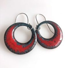 Athena Enameled Earrings