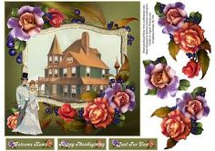 Summer s Ending Card Topper with Decoupage on Craftsuprint - Add To Basket!