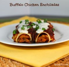 Emily Bites - Weight Watchers Friendly Recipes: Buffalo Chicken Enchiladas