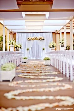 Outdoor wedding ceremony in downtown San Diego on the beautiful Garden Terrace here at The Westin San Diego Gaslamp Quarter