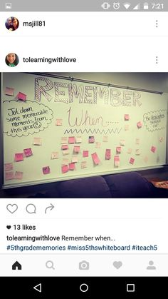 Remember when Wednesday Morning Activities, Writing Activities, Teaching Resources, Teaching Themes, 5th Grade Classroom, Classroom Fun, Future Classroom, Journal Topics, Journal Prompts