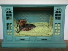 Oh my, I NEED this for my angel!! Too darn cute!    Made from an old tv cabinet.