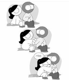 Mine by catana chetwynd comics cute comics, cute couple comi Cute Couple Comics, Couples Comics, Couple Cartoon, Relationship Comics, Funny Relationship Memes, Cute Relationships, Cute Love Cartoons, Funny Cartoons, Funny Comics