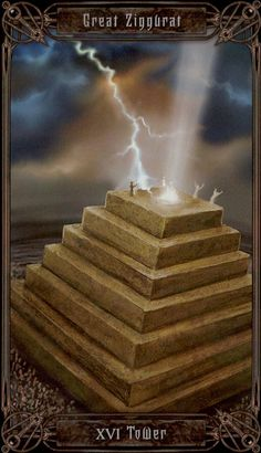 XVI. The Tower: Secrets of the Necronomicon Tarot  by Anne Stokes