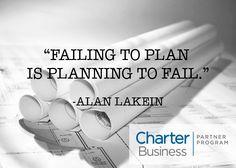 #FailingToPlan Is #PlanningToFail