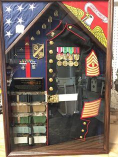 Military Uniform Shadow box FREE SHIPPING continental U.S | Etsy Military Retirement Parties, Retirement Gifts, Retirement Ideas, Military Careers, Military Humor, Military Uniforms, Marines Uniform, Military Shadow Box, Military Gifts