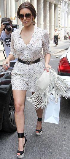 Kim Kardashian #romper #style #fashion