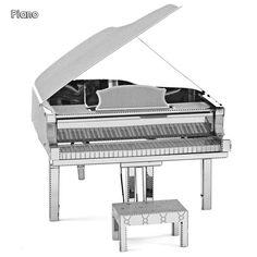 Piano 3D Nano Metal Jigsaw Puzzle DIY Assembly Miniature Model
