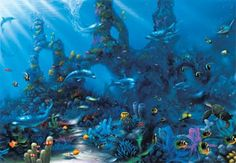 Bring the magic of a distant place to your event with a Underwater Escape Photo Mural.
