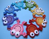 CROCHET PATTERN - Hoppy Frogs - a frog/frog prince/frog with crown applique pattern - Instant PDF Download