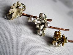 vintage jewelry bobby pin set   http://www.etsy.com/shop/TheArtSwallow?ref=si_shop