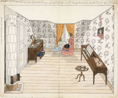 Min andra bostad. Mitt rum hos fru Jagare, tre tr upp, uti huset Nr 28 vid St Paulsg. Eller Sockerbruket Tuppen - Mamsell Sjöberg (Mademoiselle Sjöberg).