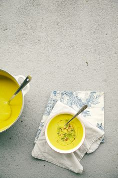 leek, fennel, apple + walnut soup with turmeric